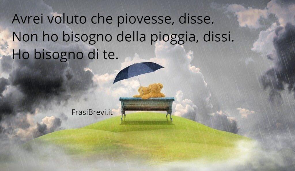 frasi pioggia e amore