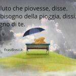 Frasi romantiche da dedicare sotto la pioggia