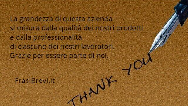 Frasi per ringraziare i dipendenti